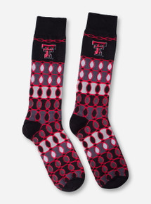 Texas Tech Round Midnight Black Crew Socks