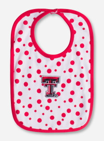 Texas Tech Double T Red Polka Dot Bib