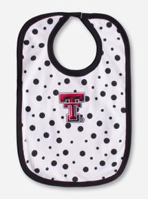 Texas Tech Double T Black Polka Dot Bib