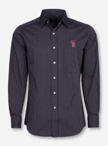 "Antigua Texas Tech ""Graduate"" Striped Long Sleeve Dress Shirt"