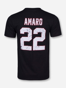 Retro Brand Texas Tech Spring Game Old School Amaro Black T-Shirt