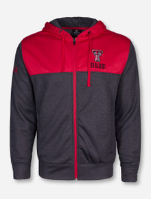 Arena Texas Tech Red Raiders Half Zig-Zag Heather Charcoal and Red Jacket