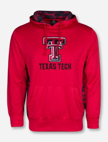 Arena Texas Tech Red and Black Camo Accent Red Hoodie