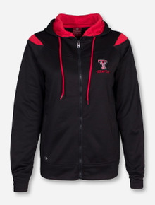 Arena Texas Tech with Red Mesh Accents Women's Black Jacket