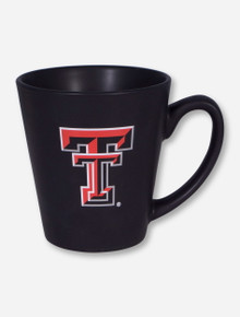 Texas Tech Double T on Latte Black Mug