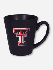 Texas Tech Double T on Latte Black Mug