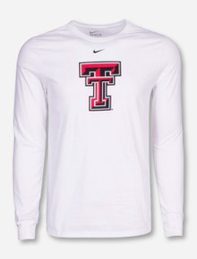 Nike Texas Tech Big Double T on White Long Sleeve