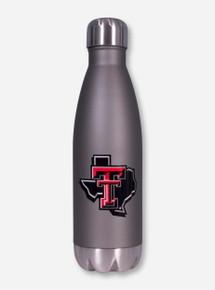 Texas Tech Lone Star Pride Twist on Stainless Steel Silver Water Bottle