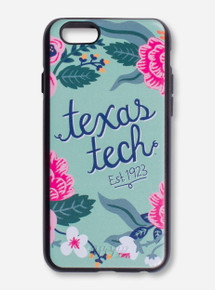Texas Tech Floral Wreath Chalky Mint Phone Case