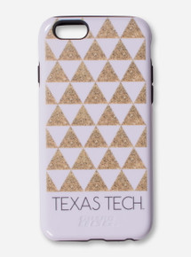 Texas Tech Gold Glitter Triangle Phone Case