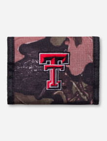 Texas Tech Double T Camo Velcro Wallet