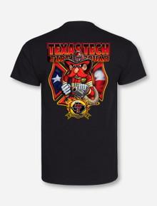Texas Tech Fire Department on Black T-Shirt