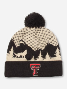 "47 Brand Texas Tech ""Fang"" Black & Cream Beanie"