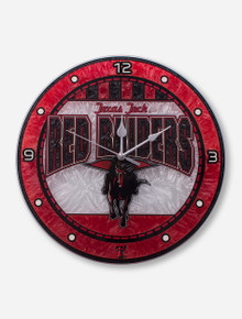 Texas Tech Red Raiders Stained Glass Wall Clock