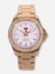 Jack Mason Texas Tech Double T Women's Gold Watch