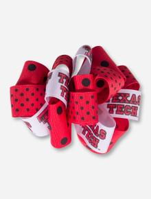 Texas Tech Red and White Polka Dot Hair Bow