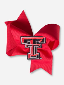 Texas Tech Double T Oversized Red Hair Bow