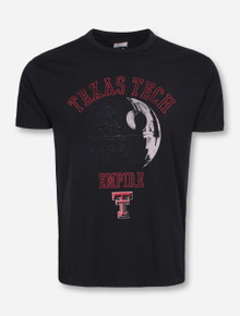 Texas Tech Star Wars Death Star on Black T-Shirt