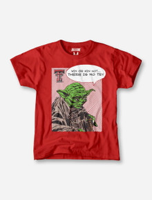 Texas Tech Yoda on YOUTH Vintage Red T-Shirt