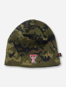 Texas Tech Double T on Digital Camo Beanie