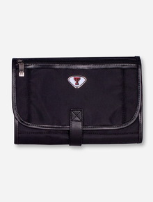 Texas Tech Double T Emblem on Black Travel Toiletry Bag