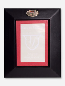 Texas Tech Double T Medallion Black Wood Frame