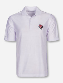 "Antigua Texas Tech ""Illusion"" Lone Star Pride on White Polo"