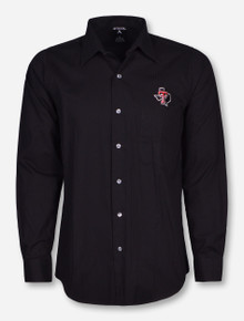 "Antigua Texas Tech ""Stoic"" Lone Star Pride Black Long Sleeve Dress Shirt"