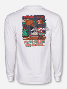 Texas Tech Deck The Halls on White Long Sleeve
