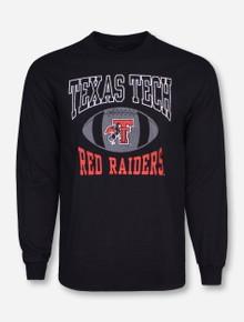 Retro Brand Texas Tech Pigskin on Black Long Sleeve Shirt