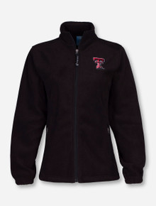"Charles River Texas Tech ""Voyager"" on Black Fleece Jacket"