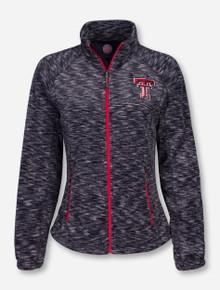 Texas Tech Double T on Women's Twisted Fleece Jacket