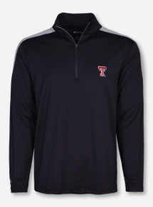 "Antigua Texas Tech ""Succeed"" Double T on Black Quarter Zip Pullover"