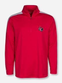 "Antigua Texas Tech ""Succeed"" Lone Star Pride on Red Quarter Zip Pullover"