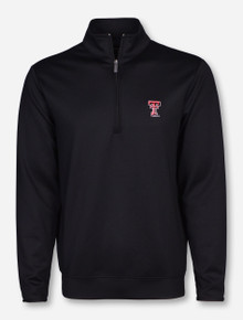 "Antigua Texas Tech ""Leader"" Black Quarter Zip Pullover"