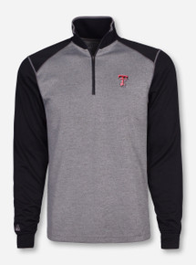 "Antigua Texas Tech ""Crux"" Heather Charcoal Quarter Zip Pullover"