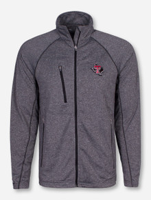 "Antigua Texas Tech ""Ally"" on Heather Grey Jacket"