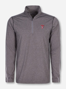 "Antigua Texas Tech ""Asset"" Heather Grey Quarter Zip Pullover"