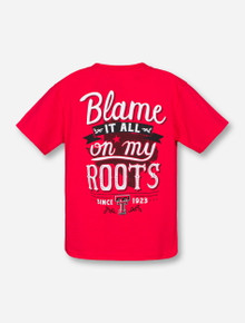 Blame It All on My Roots Red YOUTH T-Shirt - Texas Tech