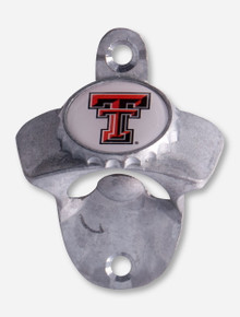 Texas Tech Double T on Wall Mount Bottle Opener