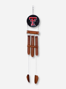 Texas Tech Double T Wood Wind Chime