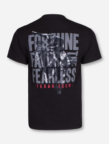 Fortune Favors the Fearless on Black T-Shirt - Texas Tech