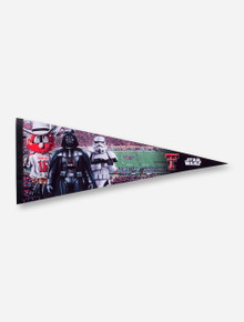 Texas Tech Raider Red and Star Wars Pennant