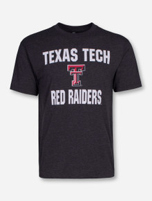 Arena Texas Tech Trek Print on Heather Charcoal T-Shirt