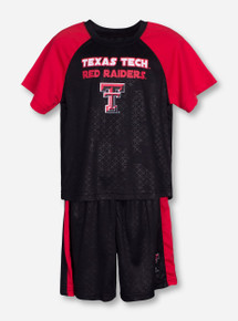 Arena Texas Tech Gridlock TODDLER Black and Red Short Set