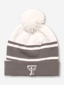 Under Armour Texas Tech Double T on Striped Grey & White Beanie