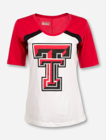 Under Armour Texas Tech Color Block Women's White, Red and Black T-Shirt