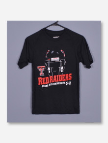 Under Armour Texas Tech Helmet Walk Through on YOUTH Black T-Shirt