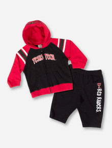 Texas Tech Red Raiders INFANT Red and Black Full ZIp Jacket and Pants Set
