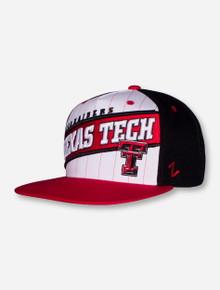 "Zephyr Texas Tech ""Pin Stripe"" Flat Bill Adjustable Cap"